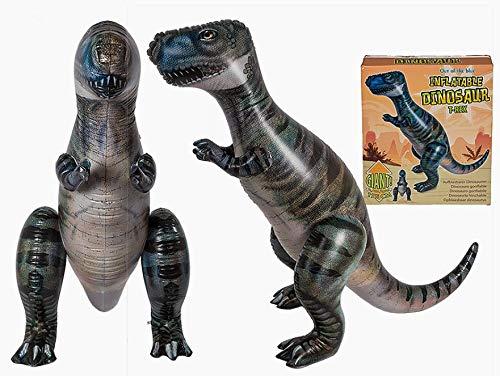 Aufblasbarer Dinosaurier T-Rex Riesen. PVC Höhe: hoch 147cm Länge: lang 120cm Zertifiziert geeignet für Kinder robust Figur prähistorischen Tier-lanotebook