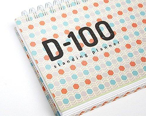 bookfriends-d-100-permanente-planner-100-giorni-count-down-calendario-planner-scheduler-scuola-libro