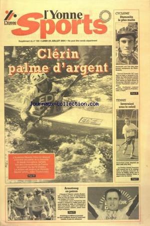 yonne sports (l') [No 168] du 20/07/2001