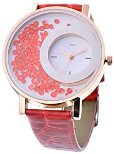 Kitcone Analogue Multi-color Dial Movable Beads Womens watches …(R-B10)