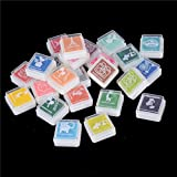 AST Works 24 Colors Ink Pads Kids Finger Drawing Picture Print Pads Funny Craft Toys P&T