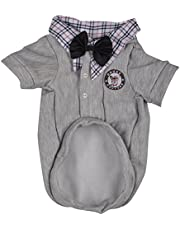 DOUGE COUTURE Sweat Shirt For Dogs (DC-W-0001_18, Grey, 18)