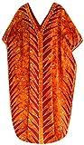 LA LEELA Kleider Kimono Baumwolle Batik Tunika Maxi Lange Bikini Vertuschung Kaftan Bademode l-4x