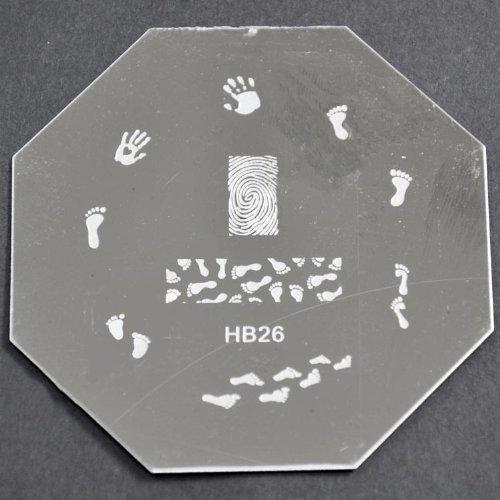 Nail Art emboutissage des tôles - HB26 CODE : HB26-plaque