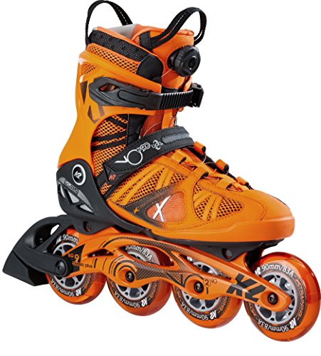 K2 Herren Inline Skate VO2 90 Boa M, orange, 9, 30B0018.1.1.090