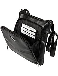 Ladies Small Black Leather Handbag Womens Crossbody Shoulder Bag Purse