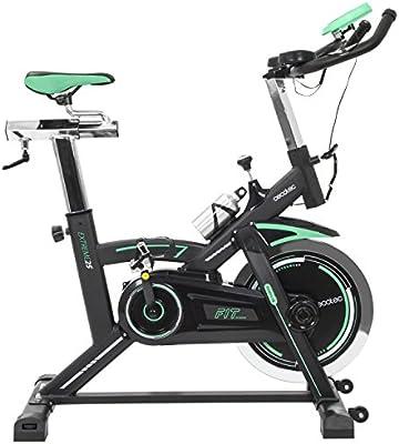 Bicicleta de Spinning Extreme 25 de Cecotec. Profesional. Volante de inercia 25 Kg. Silence Fit. Pulsómetro. Manillar de triatlón. Sillín deportivo. Completamente regulable. Estabilizadores. Resistencia variable. Pantalla LCD. Calapiés. Ruedas. Portabidones