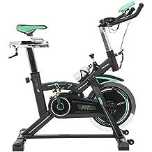 Bicicleta de Spinning Profesional. Manillar de triatlón. Volante de inercia 25 Kg. Silence Fit. Pulsómetro. Sillín deportivo. Estabilizadores. Resistencia variable. Pantalla LCD. Incluye bidón para líquidos y portabidón. Bicicleta Extreme 25 Triatlón de Cecotec.