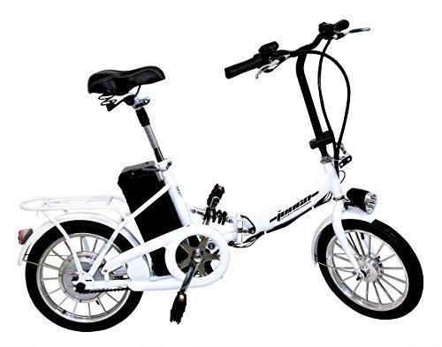 """Elektro Klapprad 16"""" 41cm Pedelec ALU-FELGEN Elektrofahrrad Ebike E-Bike Fahrrad (Weiß)"""