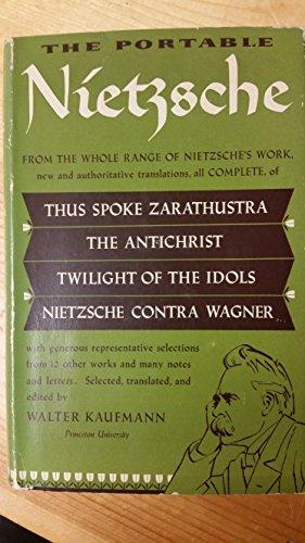 The portable Nietzsche; (The Viking portable library [62])