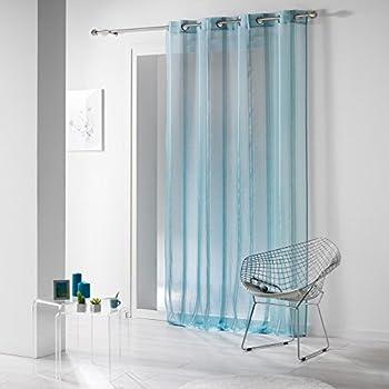 Douceur dInt/érieur Panneau Oeillet de Voilage Brode Plastique Papilu Bleu 140 x 240 x 240 cm