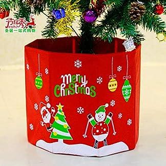 Decoraciones navideñas falda de árbol Caja de árbol de Navidad base de árbol pies de árbol conjunto caja de almacenamiento no tejida caja de regalo