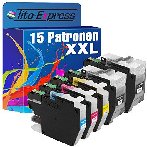 Preisvergleich Produktbild PlatinumSerie® 15x Tinten-Patrone XXL LC-3219 XL kompatibel für Brother MFC-J 5330 DW MFC-J 5330 DW XL MFC-J 5335 DW MFC-J 5730 DW