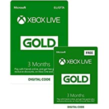Xbox Live 3 Month Gold Membership + 3 Months FREE | Xbox One/360 - Download Code