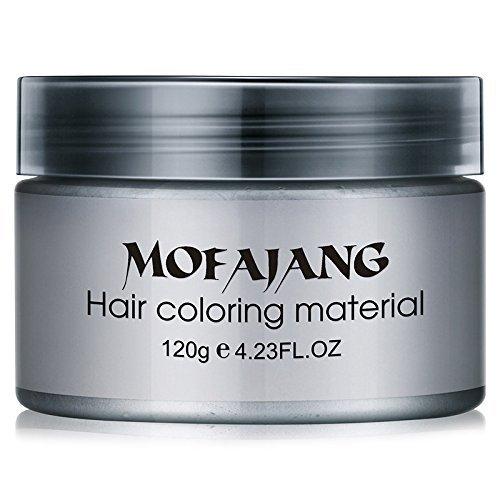 Männer temporäre Einweg Mode DIY Haarfärbemittel Pomade Silber Asche Oma grau Haar Wachs Färbung Schlamm Creme Mode Haar Styling DIY