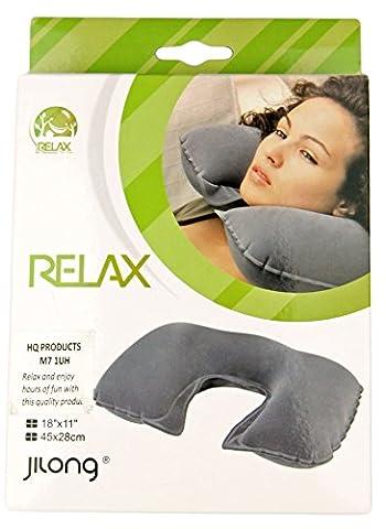 PoundSaver® Inflatable Travel Neck Pillow Soft Flight Rest/Support Cushion Head & Neck