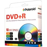‏‪Polaroid PRDVDPR010S DVD+R 4.7GB 120-Minute 16x Recordable DVD Disc, 10-Pack Spindle‬‏