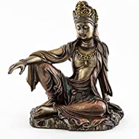Desconocido Sale - Royal Ease Kuan-Yin Water Moon Guanyin Statue Bronze - Ships Immediatly