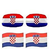 Sonia Originelli Fan-Paket-17 Auto WM Länder Außenspiegel Magnete Flaggen Fahren Fußball Farbe Kroatien