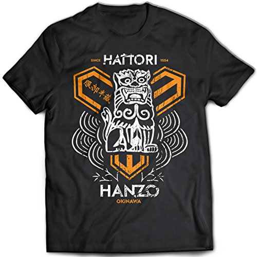 9142 Hattori Hanzo Herren T-Shirt Kill Bill Swords Crafting Pulp Fiction Death Proof Reservoir Dogs Tarantino Schwarz