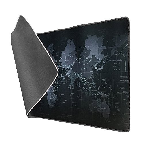 Vicloon Alfombrilla Raton Gaming Grandes World Map Mouse Pad XXL 900x400x3 mm,Impermeable...