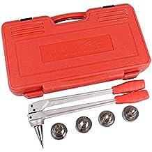 Iwiss Tubo de PEX de expansión Manual herramienta Kits con 16 mm, 20 mm, 25 mm y 32 mm Expansión Jefes Matched Uponor y Milwaukee herramientas