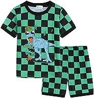 Pijamas de Manga Corta para niños Dos Piezas Conjunto de Pijama Infantil de Verano 1-7 Años