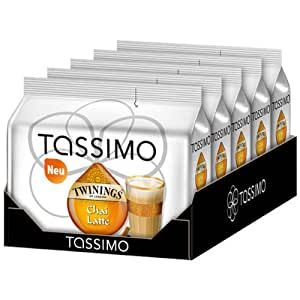 tassimo twinings chai latte lot de 5 5 x 16 t discs 40 portions epicerie. Black Bedroom Furniture Sets. Home Design Ideas