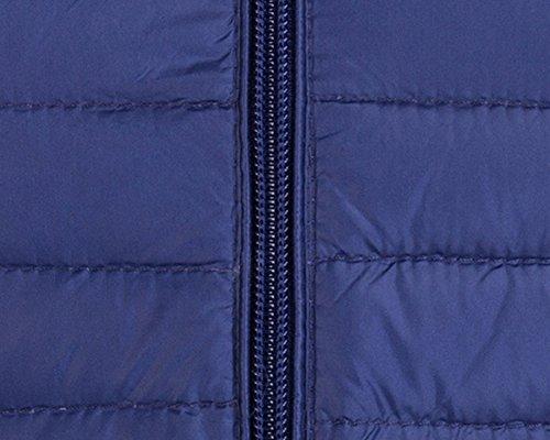 Donna Giacche Lunga Packable Palla Cappotto Ultraleggeri Trapuntato Inverno Piumino Giacca Marina Militare