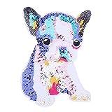 vanpower 1 Stück Pailletten zum Aufbügeln Bestickt Patch DIY Stoff Aufkleber Aufkleber Aufnähen Kleidung Applikation Hut Tasche Decor, Colorful Dog, 23x16cm/9.06x6.3in