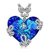 Susan Y regalo di natale collana donna blu farfalla cuore cristalli swarovski regali natale regali natale originali idee regalo natale regalo donna idee regalo donna regali natale donna collana donna