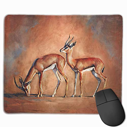 Drempad Gaming Mauspads Custom, Non-Slip Mouse Pads Rectangle Rubber Mousepad Gazelle Love Print Gaming Mouse Pad