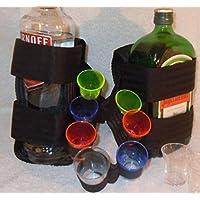 Cintura con 1 supporto per bottiglie standard e 1 quadrato