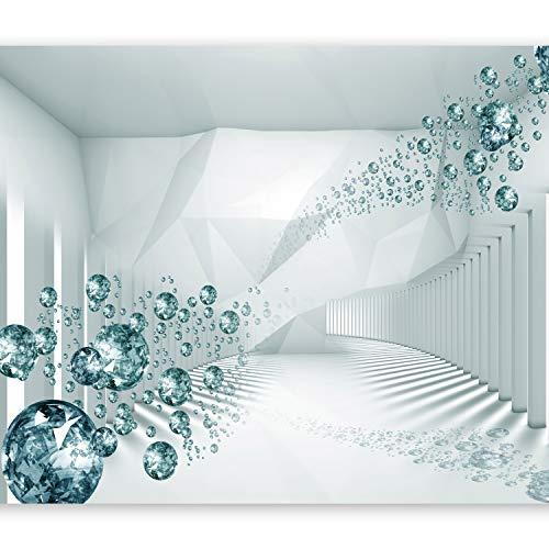 murando – Papier peint intissé 250x175 cm – Trompe l oeil – Tableaux muraux déco XXL – abstraction Diamant optique a-A-0188-a-d