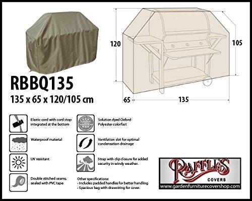 Raffles Covers RBBQ135 Schutzhülle für Gasgrill, Gasgrillküche, Grillwagen Wetterschutzhülle für Grill, Abdeckplane BBQ