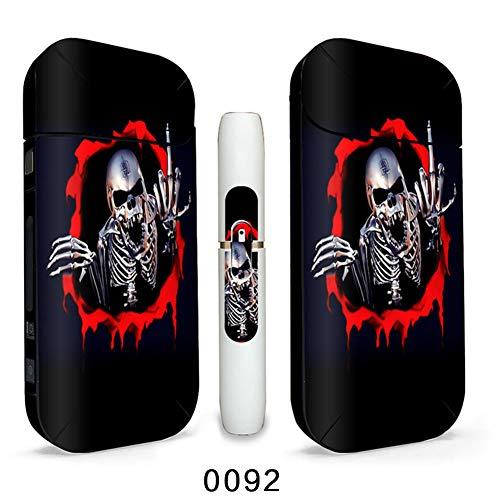 Preisvergleich Produktbild DrafTor E Zigarette Aufkleber IQOS,  2 Pack Premium Kratzerschutz Aufkleber für IQOS Version 2 / 3 2.4plus,  Kein Nikotin(H09)