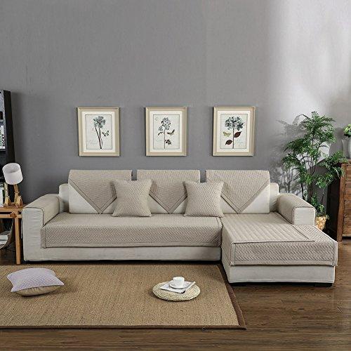 Forcheer copridivano angolare trapuntato divani con penisola disegno chaise longue copridivano seduta sofa cover ( 70*70 cm, albicocca )