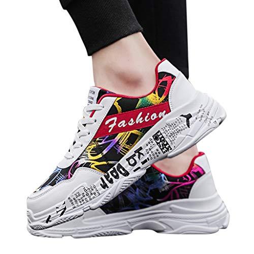 UOMOGO Scarpe Casual da Uomo, Graffiti Selvatici, comode Sneakers Basse Traspiranti,Eleganti Moda estive Correre Running Fitness Morbidi Comodi Colorati Sport