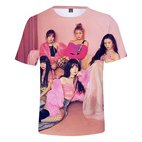 MR.YATCLS Red Velvet Foto-T-Shirt, Sommer-Polyester-T-Shirt, 3D-bedrucktes, Kurzärmliges T-Shirt, Unisex-T-Shirt, Fans ()