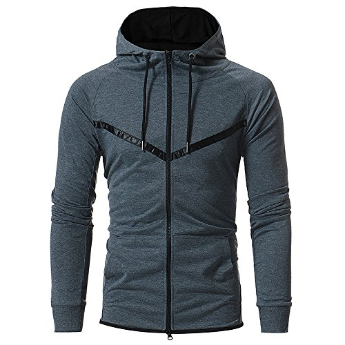 ig Sweatjacke Kapuzenjacke Hoodie Männer Sweatshirt Pullover Jacke Sweatjacke mit Kapuze Reißverschluss und Fleece-Innenseite Top Outwear Bluse 100% Baumwolle ()