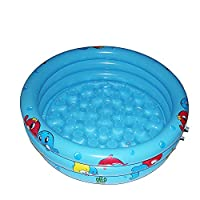 Autbye Baby Swimming Pool 2018 Advanced Inflatable Pool Durable Friendly PVC 36 x 10 Inch Portable Outdoor Indoor Children Basin Bathtub Kids Pool Water Play Ball Pool Pit (Blue)