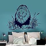 Wandtattoo Wandbild Wandaufkleber Aufkleber Löwe Steppe Afrika Serengeti M1888 ausgewählte Farbe: *schwarz* ausgewählte Größe: *L*