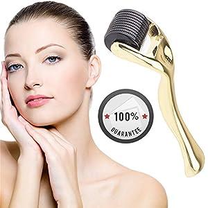 OYOTRIC Microneedle Roller 3.0mm – Mikronadel Derma Roller – 540 Micro Needle Roller Einsatz auf Falten, Schwangerschaftsstreifen, Akne, Haarausfall, Narbenentfernung und Hyper-Pigmentierung