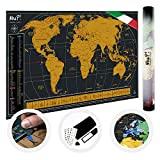 Mappa Del Mondo Da Grattare MuP! | Geografica Design Italiano | Panoramica Per Viaggiatori Arredo Parete | Idee Regalo Originali | Grande Poster Planisfero A Graffio | Scratch The Original World Map