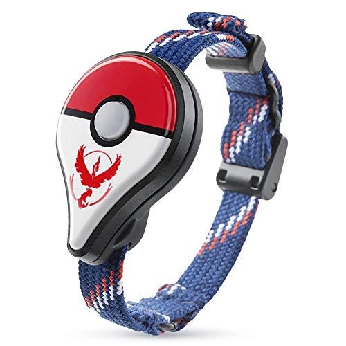 Wireless Pokemon GO Wristband Bluetooth braccialetto indossabile dispositivo di gioco LED Monster Detector Smart Promemoria Bracciale Nuovo design solo per Nintendo POKEMON GO Plus (Rosso)