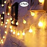 LED Guirnalda Luces USB,Tonskooners [2 Paquete] 33FT / 10M 60 LEDs 8 modos Puerto USB LED Cadena de luces para Casas, Fiesta, Boda. (Amarillo)