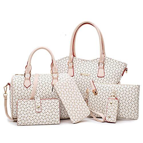 Ailihan Handtasche Lady Frühling und Sommer Crossbody Tasche sechs Stücke von Einem einzigen Umhängetasche große Tasche Handtasche sechs teiliges Set