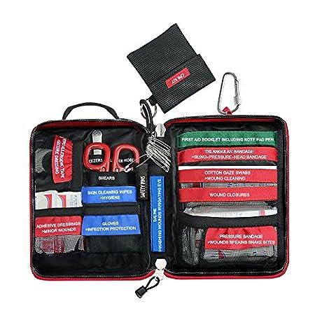 Airsson 77 Stücke Wasserdichte Molle Erste Hilfe Kit Set Bag Notfall Kompakt Tasche für Home Office Car Caravan oder Reisen (Small