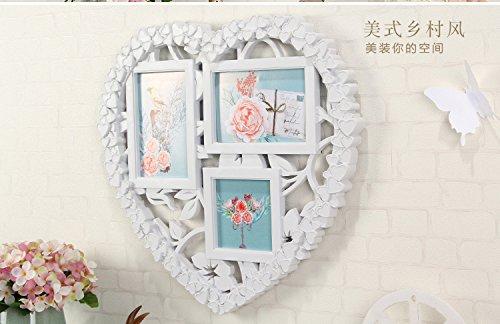 Bilderrahmen*6 Zoll Bilderrahmen in Herzform Wand Foto rahmen Foto Wand kreative Geschenke, Blumen-förmigen Rahmen, kleine Anzahl 42 X 39 CM