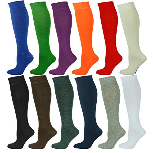 Mysocks® Unisex Knee High Long Socks with Extra Fine Combed Cotton